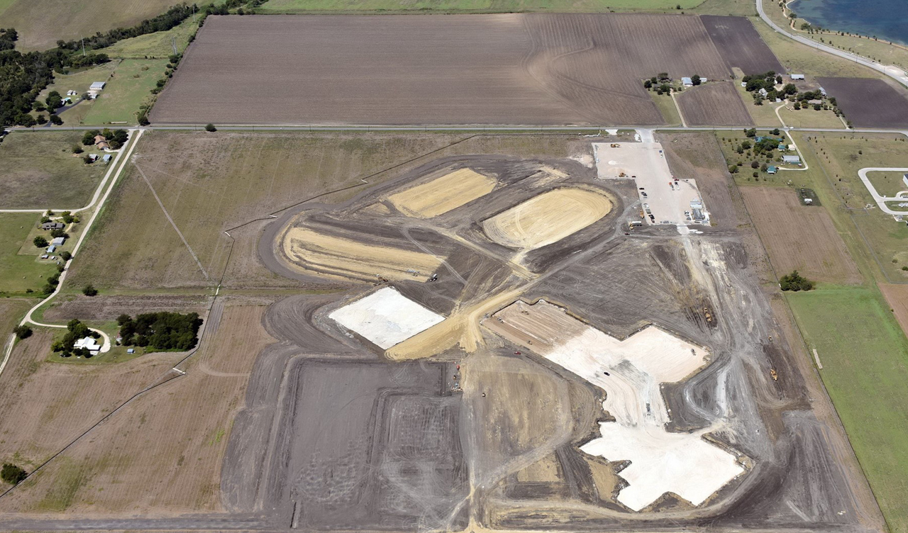Gil Engineering aerial grading view